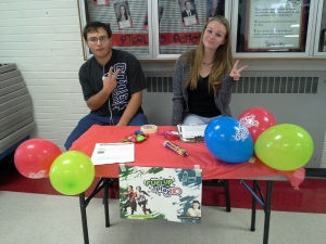 FUTP60 Booth at the Spanish Fork High Club Rush Week