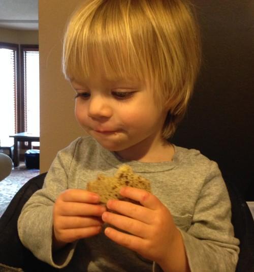 Eating Banana Bread