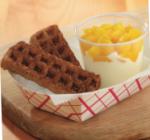 Peaches n Cream Waffle Dunkers