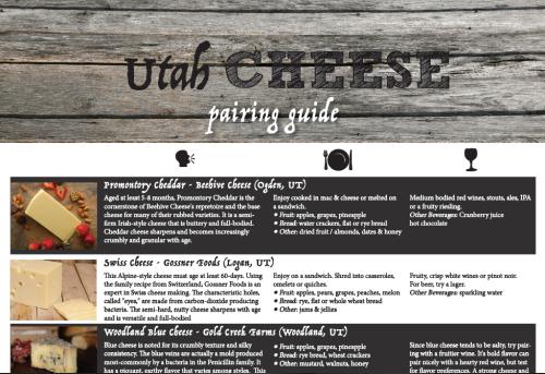 Utah Cheese Pairing Guide
