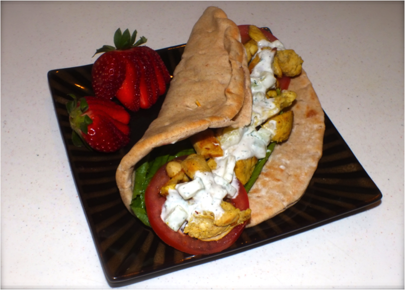 Curried Chicken Pitas Recipe — Dishmaps