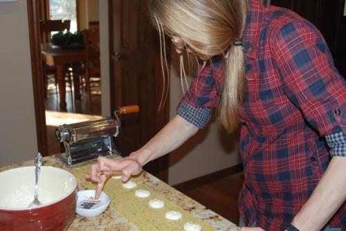 Sealing the ravioli