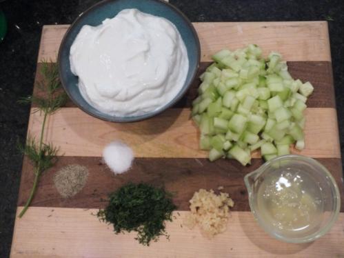 Taziki sauce ingredients