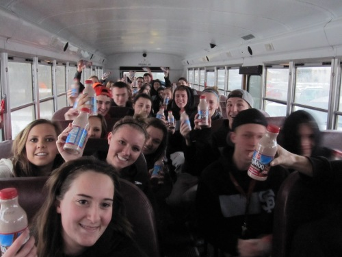 Spanish Fork Bus Chocolate milk